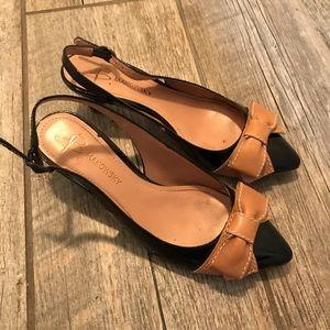 B. Makowsky front bow kitten heels